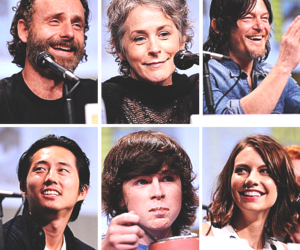 norman reedus, andrew lincoln, and chandler riggs image