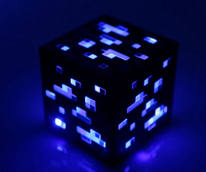 block, minecraft, and cube image