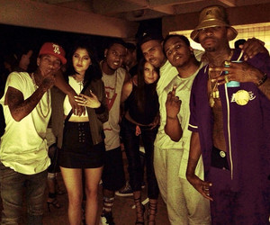 tyga, chris brown, and kendall jenner image