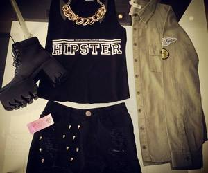 clothes, hipster, and outfit image