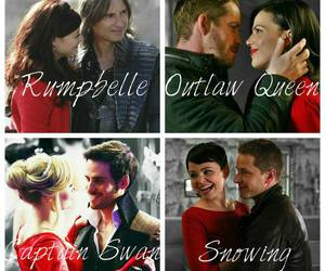 beauty and the beast, evil queen, and rumbelle image