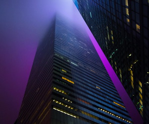 buildings, city, and fog image