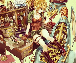 anime, anime girl, and steampunk image