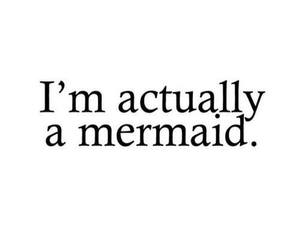mermaid, quote, and text image