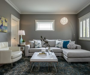 big chair, stylish sofa design, and neutral color palettes image