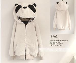 panda, jacket, and kawaii image