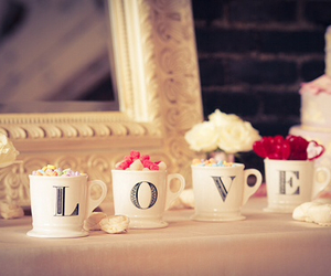 love, cup, and vintage image