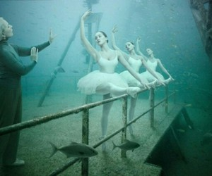 underwater, underwater photography, and ballerina image