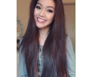 brunette, long hair, and pretty image