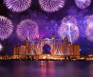 fireworks, photography, and Dubai image