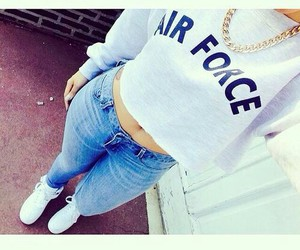 fashion, air force, and outfit image