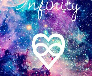 background, galaxy, and infinity image