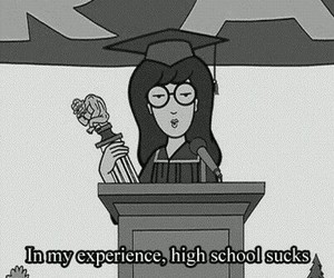 school, Daria, and high school image