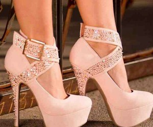fashion, heels, and straps image