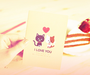 cute, cat, and I Love You image