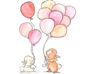 cute, art, and balloons image