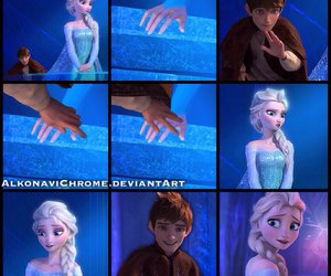 first time, jelsa, and ice castle image