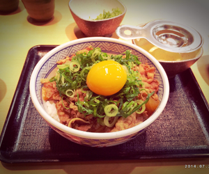 beef, egg, and japan image