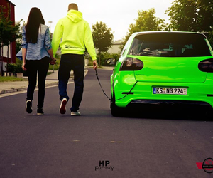 love, car, and golf image