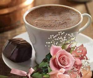 chocolate, coffee, and rose image