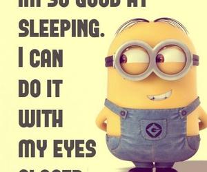 minions and sleep image