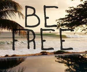 free, beach, and be free image