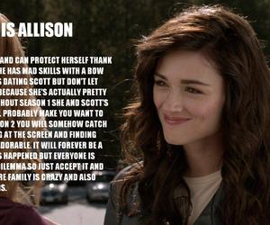 teen wolf, allison argent, and allison image