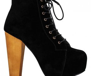 black, boot heels, and pretty image