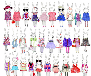 bunny, fifi lapin, and rabbit image