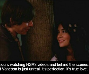 high school musical, look, and zanessa image