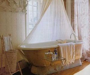 bathroom, bath, and vintage image