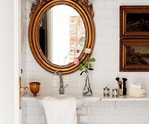 bathroom, interior, and mirror image