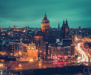 city, amsterdam, and landscape image