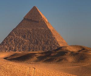 pyramid, egypt, and desert image