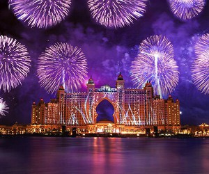fireworks, photography, and Dubai image