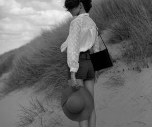 beach, black, and girl image