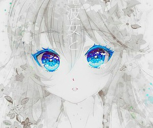 anime, blue eyes, and anime girl image