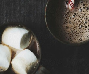 marshmallow, chocolate, and winter image