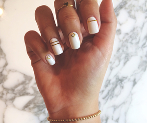 cartier, gold, and nails image