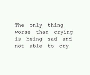 sad, cry, and pain image