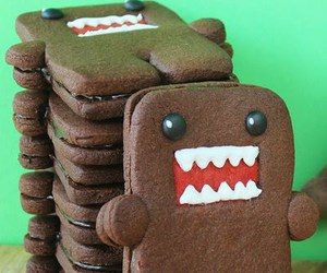 cute, domo, and Cookies image