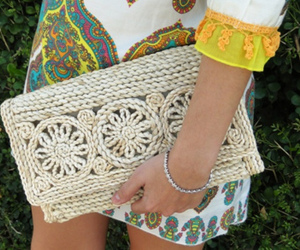 clutch, style, and crochet image