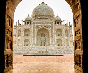 india, places, and taj mahal image