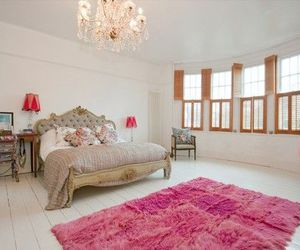 bedroom, pink, and luxury image