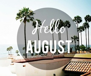 August, hello, and sea image