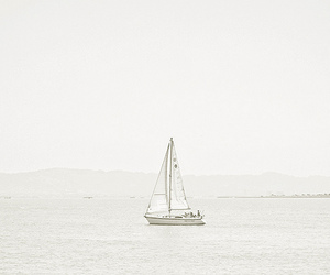 alone, boat, and cloudy image