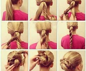 hair, tutorials, and cabello image
