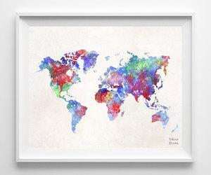 art, beautiful, and map image