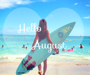August, beach, and girl image