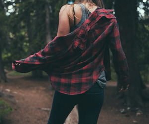 girl, hipster, and red image